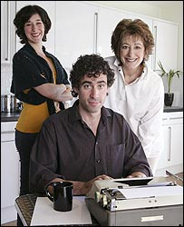 Amy Rosenthal, Stephen Mangan and Maureen Lipman