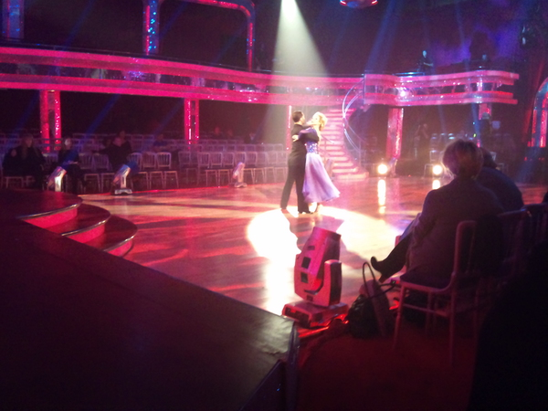 Felicity Kendal and Vincent Simone in Dress Rehearsal for Strictly Come Dancing
