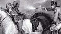 Detail from a drawing portraying the Battle of Vinegar Hill