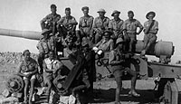 A group of British soliders in Libya before the fall of Tobruk