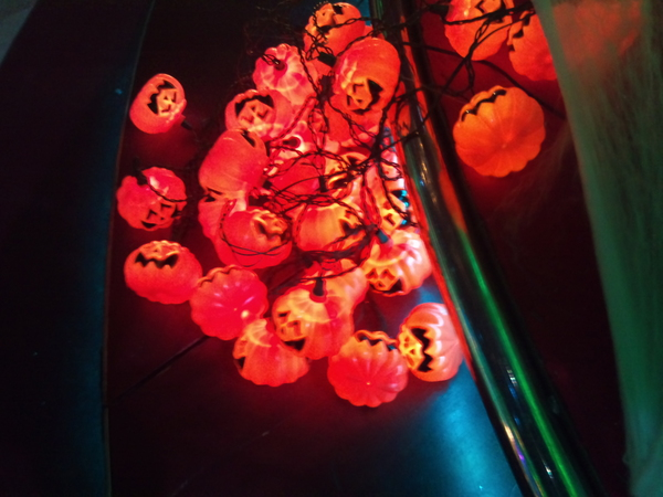 Pumpkin lights from the set of the Strictly Halloween special