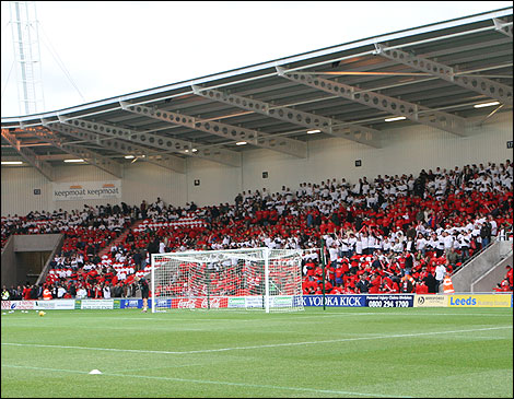 Keepmoat stadium's South Stand