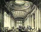 Illustration showing the interior of the Signet Library