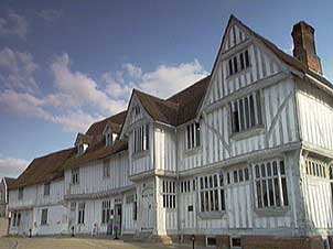 Timber framed buildings in Lavenham