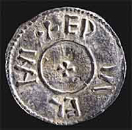 Photo of silver penny of Athelstan/Guthrum