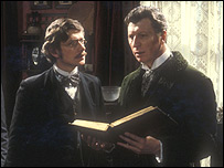 Hound Of The Baskervilles 03/10/1982 BBC: Tom Baker as Sherlock Holmes and actor Will Knightley
