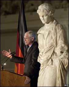 European Council President Herman Van Rompuy delivers his State of Europe address in the Pergamon Museum, Berlin, Germany, 9 November