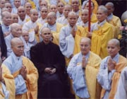 A delegation of monks