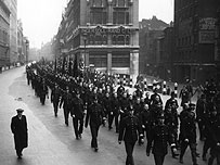British Union of Fascists march