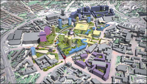 Bbc coventry and warwickshire places jerde unveil plans for Coventry plan