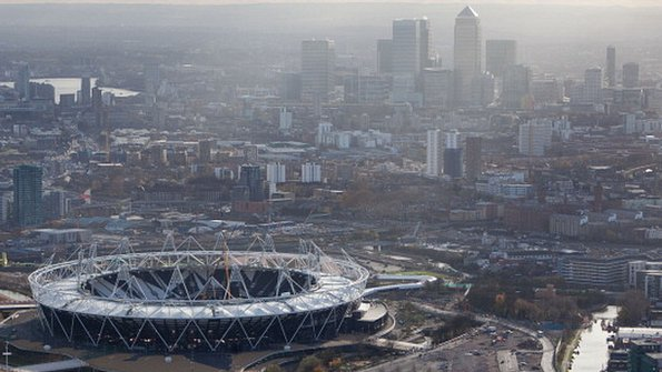 Olympic park and City of London