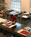Print and dye workshop at Goldsmiths College