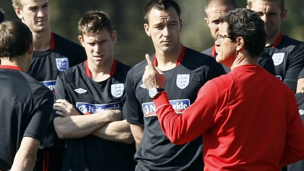 Fabio Capello addresses his England squad
