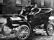 Henry Ford and his son