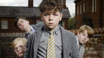 Daniel Roche stars as the mischievous Just William in BBC One's new adaptation, along with Robert Foster, Edward Piercy and Jordan Grehs as his Outlaws