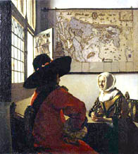Vermeer's Officer and Laughing Girl