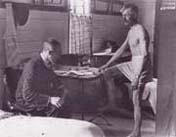 Photo of a shell shocked victim undergoing a medical examination