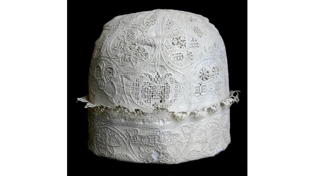 Nightcap worn by Charles I