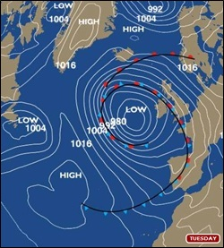 Bbc bbc weatherman ian fergussons blog umbrella wrecking weather tuesdays synoptic chart paints a distinctly wet and windy story gumiabroncs Images