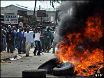 Protests in Kibera, Kenya