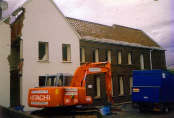 Assumption Grammar School  undergoes demolition (2004)