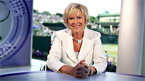 Sue Barker introduces live coverage of the men's quarter-finals at Wimbledon 2010
