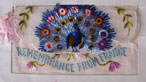 Embroidered rembembrance souvenir from France