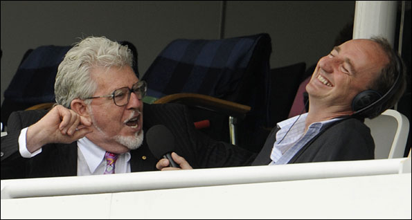 Rolf Harris with Jonathan Agnew