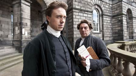 L-R: William Garrow (Andrew Buchan) and  Southouse (Alun Armstrong)