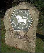 National Park Authority sign