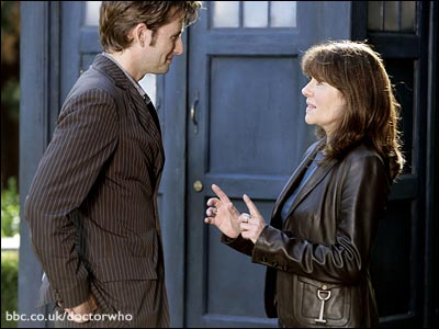 The Doctor (David Tennant) and Sarah Jane Smith