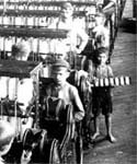 Image of boys working in a cotton mill