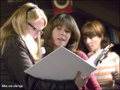 Script supervisor and Lis check the script