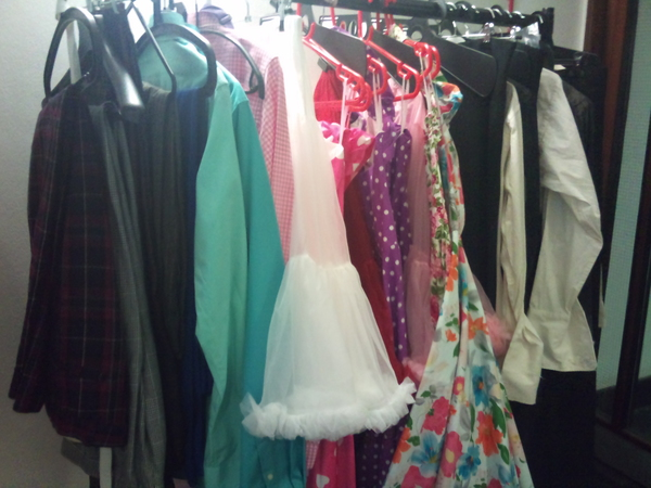 Some of our spooky costumes for the Strictly Halloween special