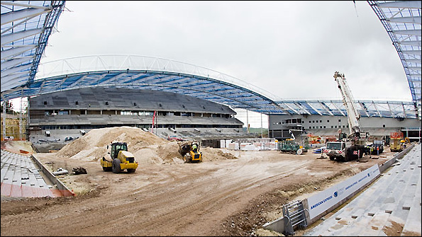 The new stadium at Falmer is currently being built.