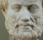 The philosopher-scientist Aristotle. He was born in northern Greece in 384 BC and died in 322 BC.  He was a teacher too; Alexander was one of his students.