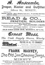 An advert from the 1908 edition of the Minety, Crudwell, and Hankerton Church Monthly magazine