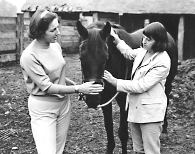 christine and lilian at stables