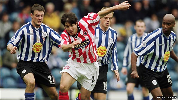 Paul Peschisolido in action for former club Sheffield United