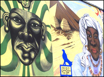 Bbc berkshire features black history month 2007 for Black history mural