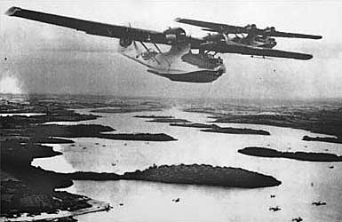 Catalinas over Lough Erne,  1943 - picture courtesy Breege McCusker