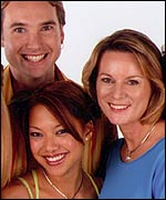 Picture: Helena Harris - right, with the cast of HI-5