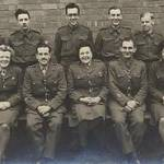 Royal Army Pays Corps (1940s) Nottingham,back row Norman Hands,Derek Dewis,Fred ?,Cyril Bloore,Peter ?,Ray Lovatt,Front Row Kathleen,Lt.Ruggins,Ethel Flink,unknown, Peggy Cummings