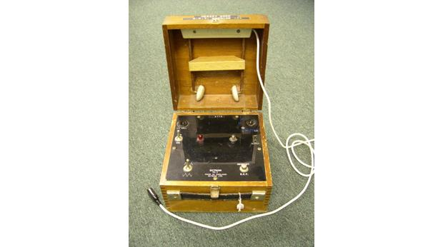 Equipment from St Audrey's hospital, Melton, used to treat patients with mental health issues through electric shocks.