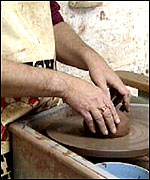Potter at wheel