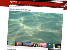 Screengrab of BBC News picture gallery