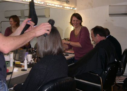 Mary, Bill and Brian in make up