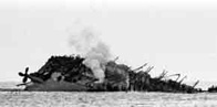 Photograph showing the last moments of the Lancastria