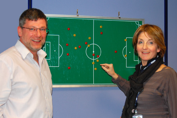 Kaye Adams with Craig Levein