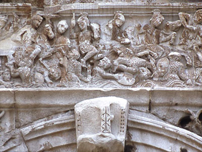 Arch of Constantine, panel depicting the Battle of Milvian Bridge